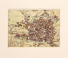 Load image into Gallery viewer, Ghent - Antique Map circa 1870