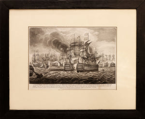 'Glorious 1st of June' Mezzotint of The Battle of Ushant 1794