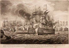 Load image into Gallery viewer, 'Glorious 1st of June' Mezzotint of The Battle of Ushant 1794