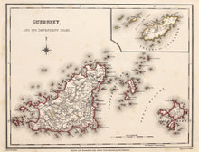 Load image into Gallery viewer, Guernsey - Antique Map by J C Walker circa 1831