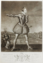 Load image into Gallery viewer, Henry Prince of Wales Exercising with a Lance - Mezzotint circa 1800