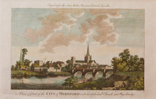 Load image into Gallery viewer, The City of Hereford - Antique Copper Engraving circa 1784