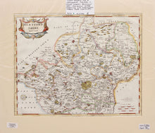 Load image into Gallery viewer, Hertfordshire - Antique Map by Robert Morden circa 1722