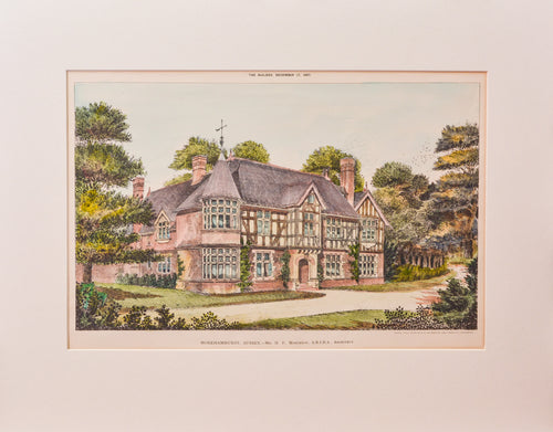 Horehamhurst, Sussex - Antique Lithograph, 1887