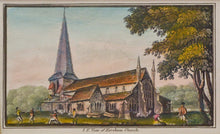 Load image into Gallery viewer, SE View of Horsham Church - Antique Aquatint circa 1830