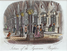 Load image into Gallery viewer, Interior of the Grand Aquarium Brighton - Antique Steel Engraving 1872