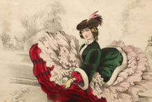 Load image into Gallery viewer, Its No Use Tiney and It Is To Be Done Tiney - Pair of Hand Coloured Lithographs 1858