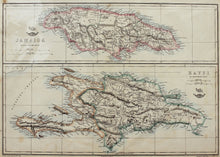 Load image into Gallery viewer, Jamaica and Hayti - Antique Map circa 1863