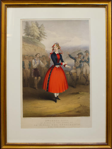 Mlle Jenny Lind - Antique Lithograph 1847