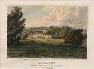 Kidbrook - Antique Steel Engraving circa 1819
