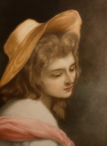 Lady Hamilton As Ariadne Mezzotint 1912