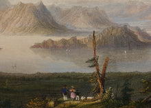 Load image into Gallery viewer, Lake of Lucerne Antique Steel Engraving circa 1845