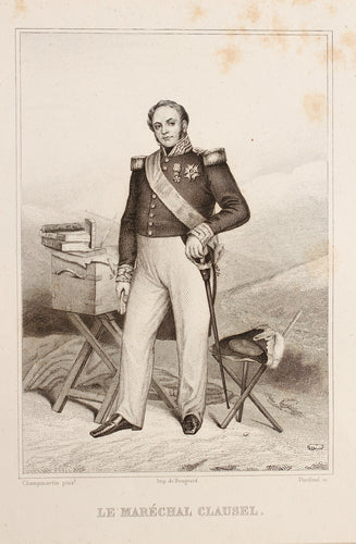 Le Marechal Clausel - French Steel Engraving circa 1830s