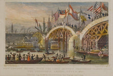 Load image into Gallery viewer, New London Bridge - Antique Steel Engraving circa 1828