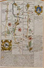 Load image into Gallery viewer, The Road from London to Chichester - Antique Route Map circa 1720