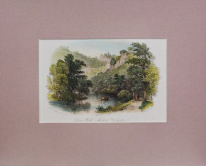 Lovers Walk Matlock Derbyshire - Antique Steel Engraving circa 1840