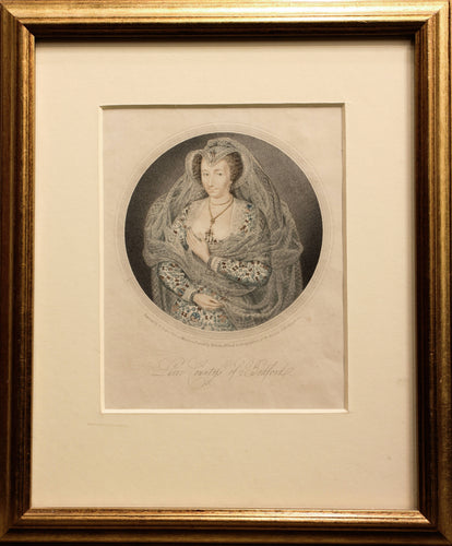 Lucie Countess of Bedford - Engraving circa 1815