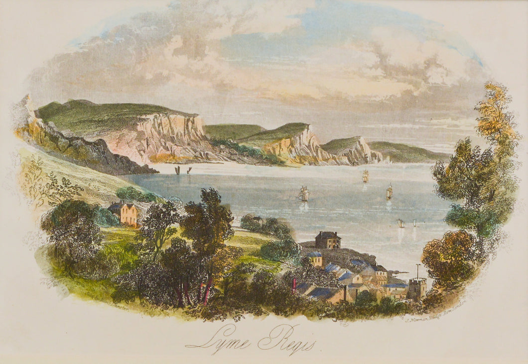 Lyme Regis - Antique Steel Engraving circa 1840