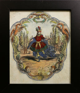 Madamoiselle La Montagne and Beaupre Copper Engravings circa 1780s
