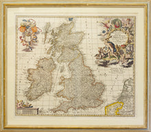 Load image into Gallery viewer, Early Map of Great Britain - Antique Map by Visscher circa 1690