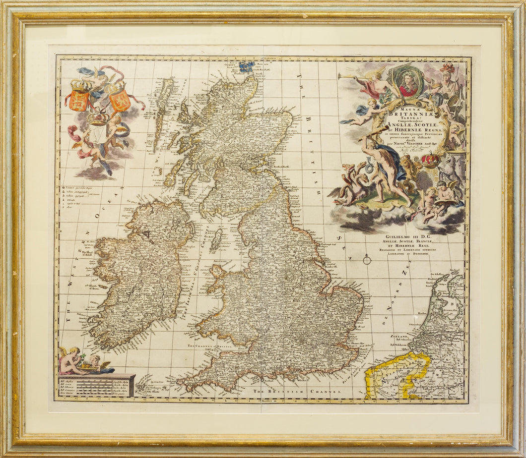 Early Map of Great Britain - Antique Map by Visscher circa 1690