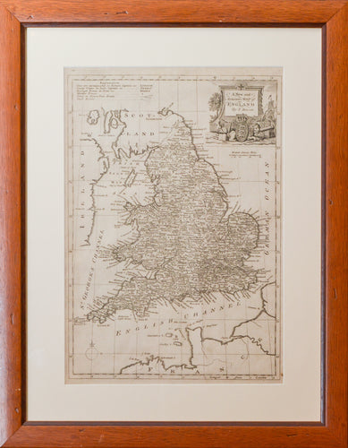 Antique Map of England - by T Bowen circa 1770s