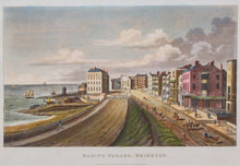 Load image into Gallery viewer, Marine Parade Brighton - Antique Chromolithgraph circa 1880s