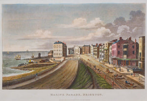 Marine Parade Brighton - Antique Chromolithgraph circa 1880s