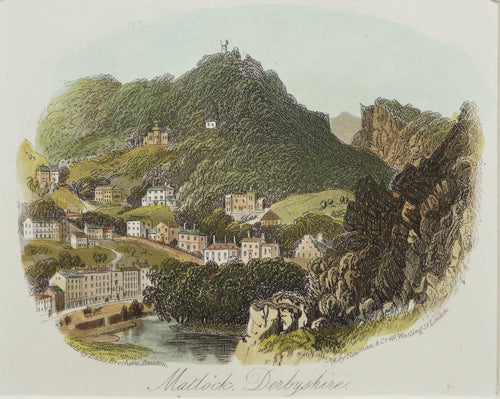 Matlock Derbyshire - Antique Steel Engraving circa 1870
