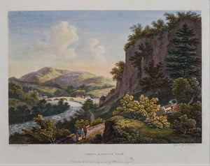 View in Matlock Vale - Antique Copper Engraving 1785