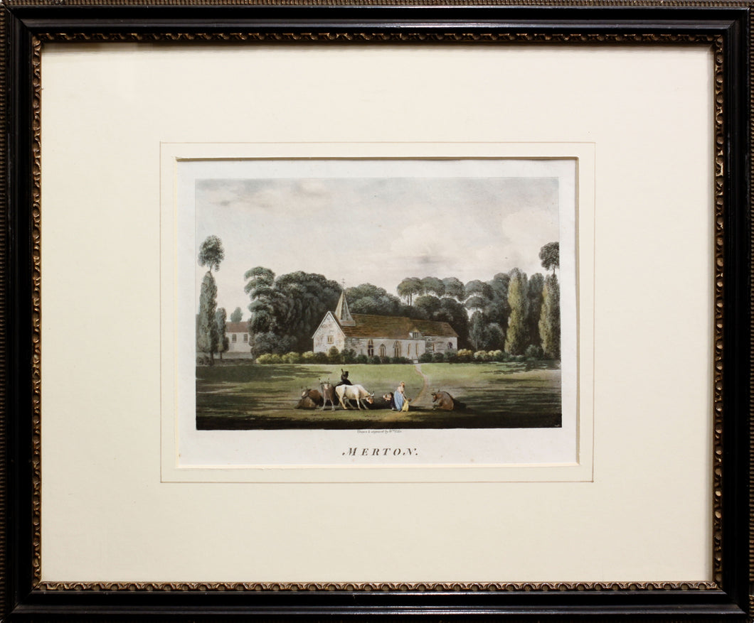 Merton Surrey Aquatint circa 1800