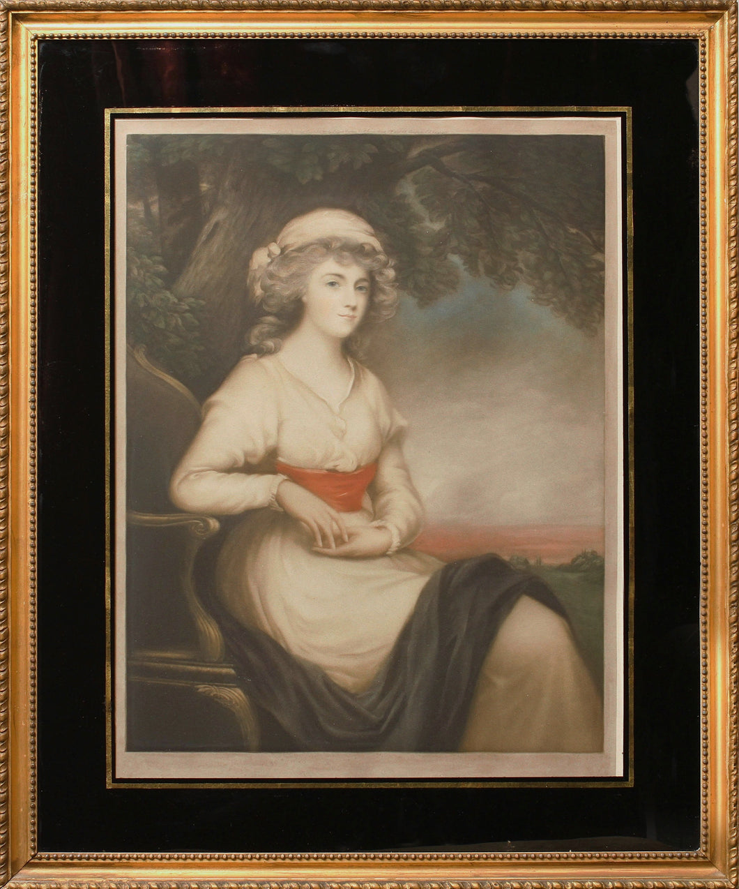 A Georgian Lady Antique Mezzotint 1912