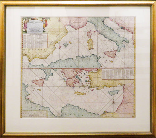 Middellandsche Zee - Map of the Mediterranean Sea circa 1682-6