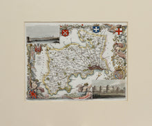 Load image into Gallery viewer, Middlesex - Antique Map by Thomas Moule circa 1838
