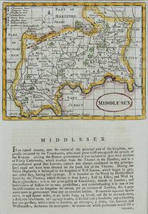 Middlesex - Antique Map by Seller circa 1785