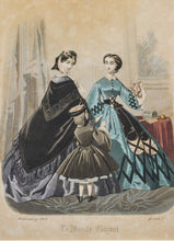 Load image into Gallery viewer, Le Monde Elegant - Antique Fashion Print 1862
