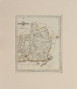 Monmouthshire - Antique Map by J Cary 1787