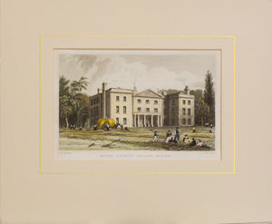 Mount Radford College Exeter - Antique Steel Engraving circa 1836