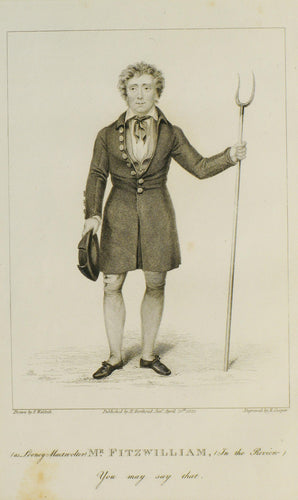 Mr Fitzwilliam - Antique Copper Engraving 1822