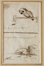 Load image into Gallery viewer, My Eyes, Theres a Mouse Does Mother Know Youre Out - Pen and Ink Sketches circa 1880s