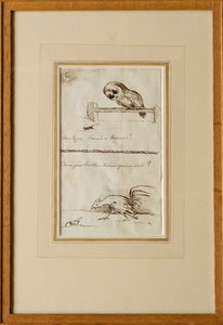 My Eyes, Theres a Mouse Does Mother Know Youre Out - Pen and Ink Sketches circa 1880s