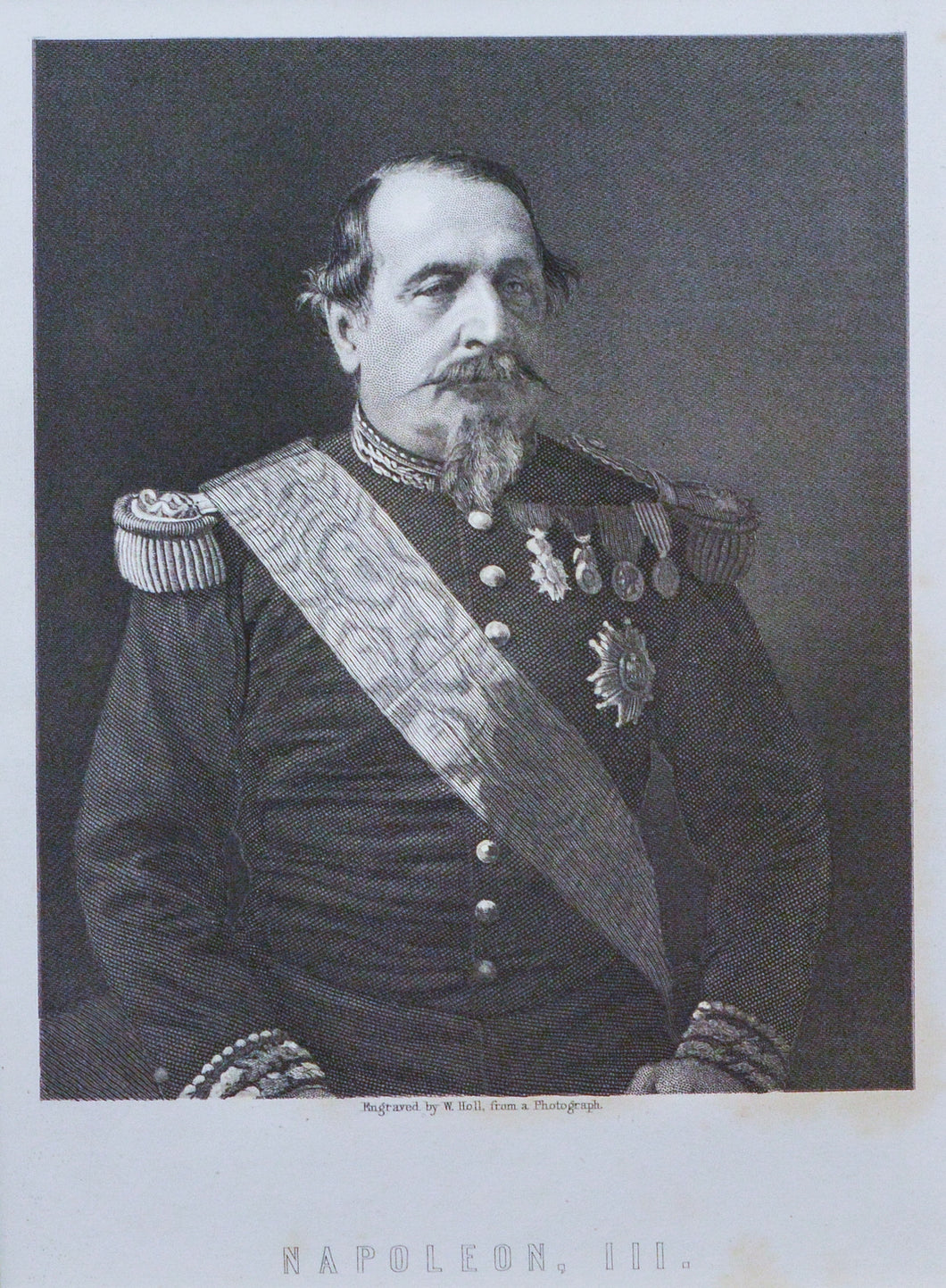 Napoleon III - Antique Steel Engraving circa 1860s