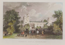 Load image into Gallery viewer, Naworth Castle Cumberland - Antique Steel Engraving circa 1844