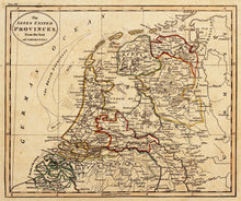 Load image into Gallery viewer, Antique Map of the Netherlands, circa 1815