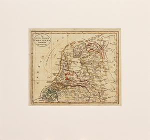 Antique Map of the Netherlands, circa 1815