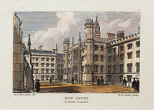 Load image into Gallery viewer, New Court, St Johns College - Antique Steel Engraving circa 1830s