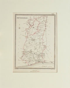 New Shoreham - Antique Map by J&C Walker circa 1835