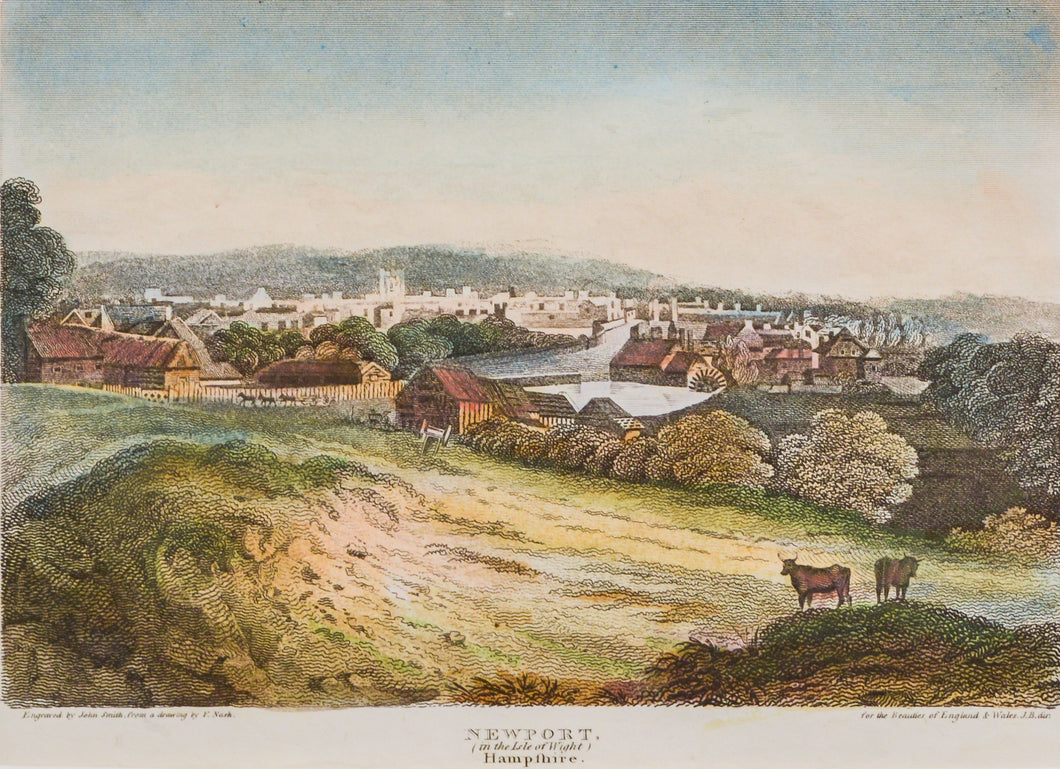 Newport (Isle of Wight) - Copper Engraving circa 1818