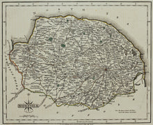 Load image into Gallery viewer, Norfolk - Antique Map by J Cary 1793