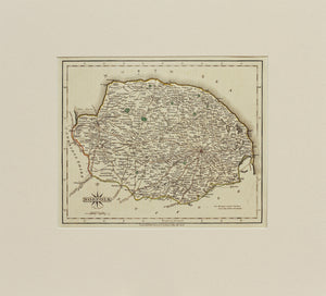 Norfolk - Antique Map by J Cary 1793